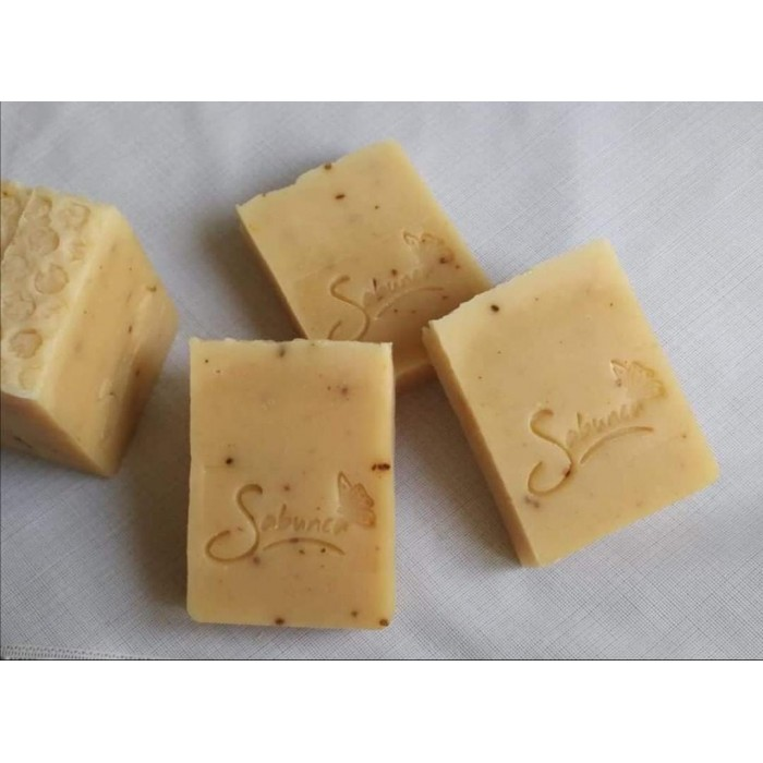 Doğal Keçi Sütlü + Polenli Sabun